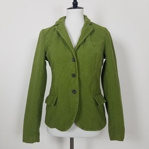 J.Crew Green Blazer Jacket Fitted Plaid Detail